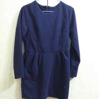 藍色毛尼洋裝