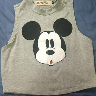 Grey Mickey Cropped