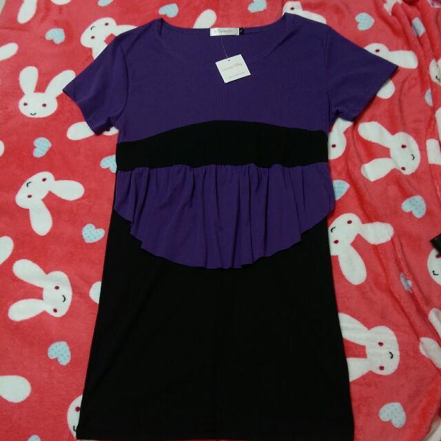 全新紫色洋裝