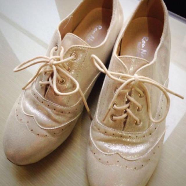 亮晶晶內增高牛津鞋✨