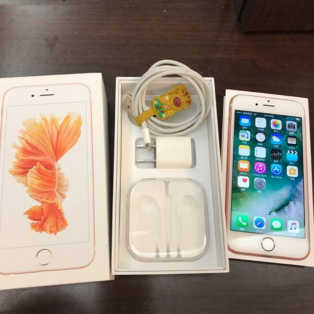 Apple iphone 6s 64G 玫瑰金 (近全新)