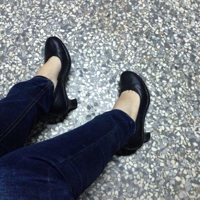 Apple Nana OL氣墊粗根 高跟鞋