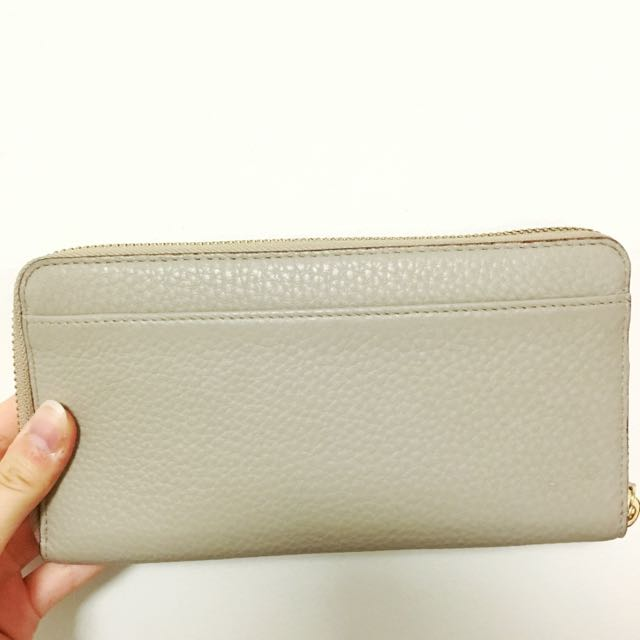 Authentic Grey Kate Spade Real Leather Zippy Wallet