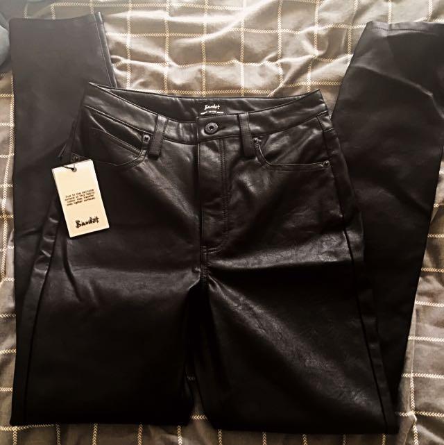 Bardot Leather Pants