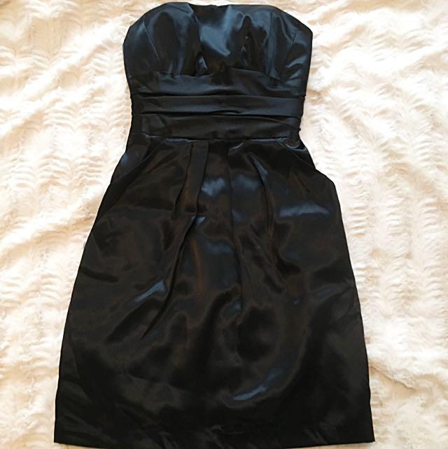 Black Davids Bridal Strapless Dress - Size 2