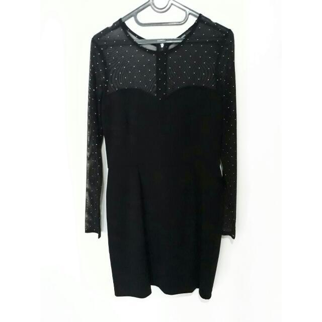 BLACK DRESS (MANGO)