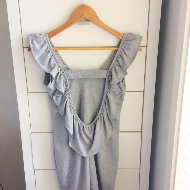 Boutique Grey Slip Dress