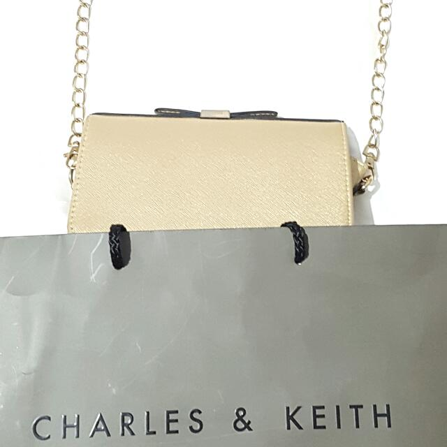 Charles Keith Gold Clutch