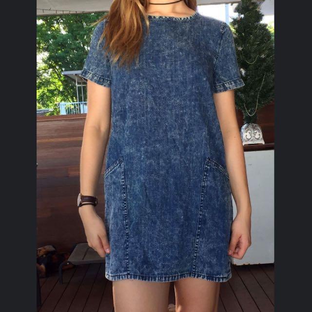 ✨PENDING✨Denim Tshirt Dress