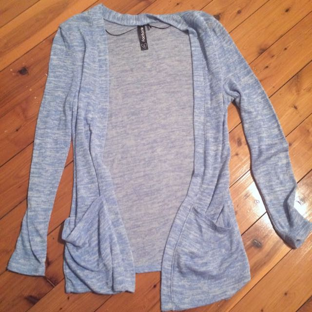 Factorie Blue Knit Cardi