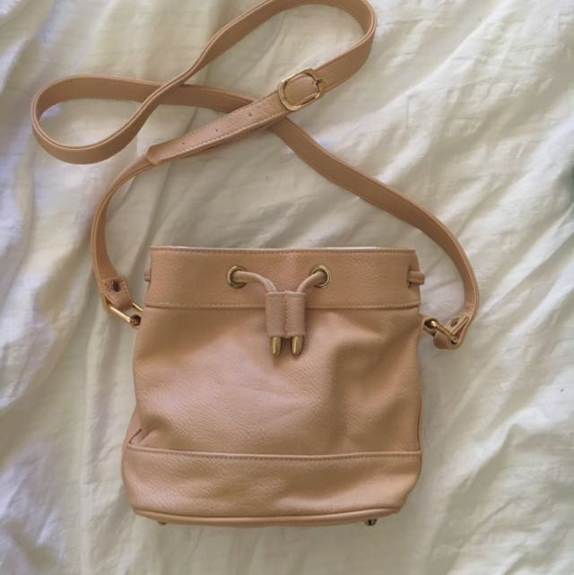 FOREVER NEW Mini Drawstring Leather Satchel
