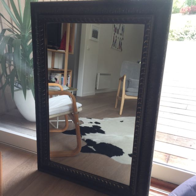 Gold/black Wash Mirror