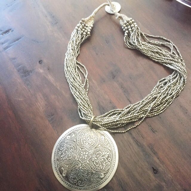 Gorgeous Silver Tipped Boho Necklace