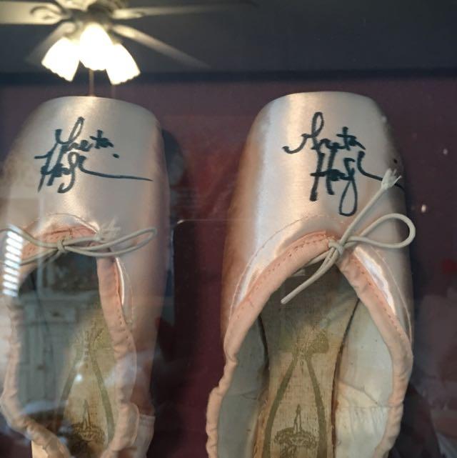 Greta Hodgkinson National Baller Of Canada Signed Ballet Slippers Framed
