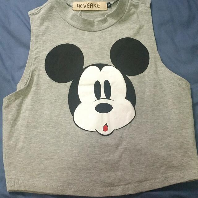 Grey Mickey Cropped