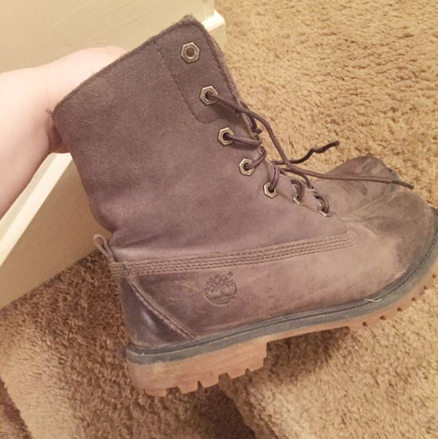 Grey Timberland Boots