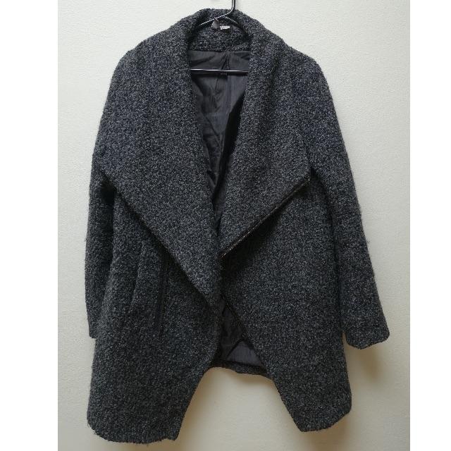 H & M oversized grey woolen coat MENS SIZE M