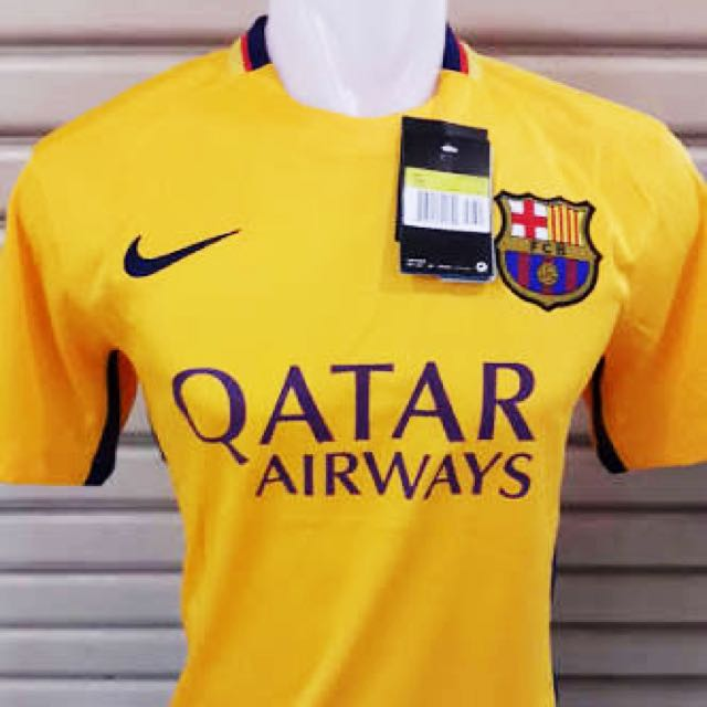 JERSEY BARCA AWAY 2015-2016 NEW WITH TAG (GRADE ORI)