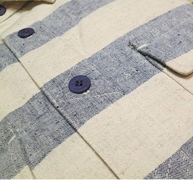 Lafayette Washed Military Shirt - Border - Large