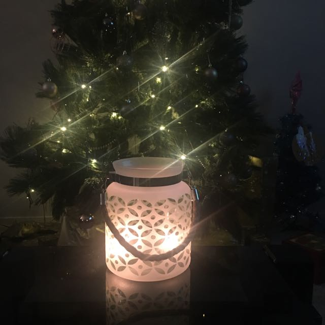 Large Frosted Lantern