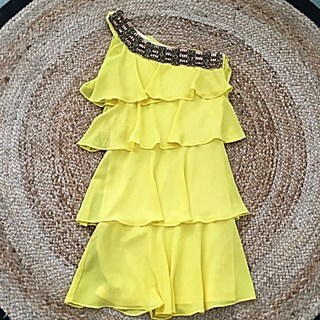 Lili: Yellow Ruffle Dress
