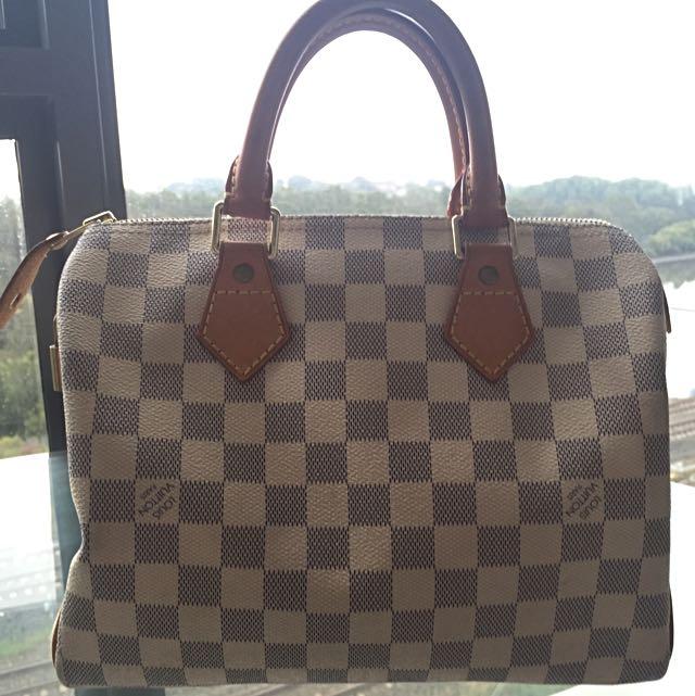 Louis Vuitton LV Speedy 25 Damier Azur