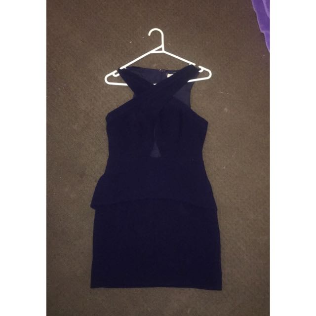 Navy Cross Over Dress Size 10