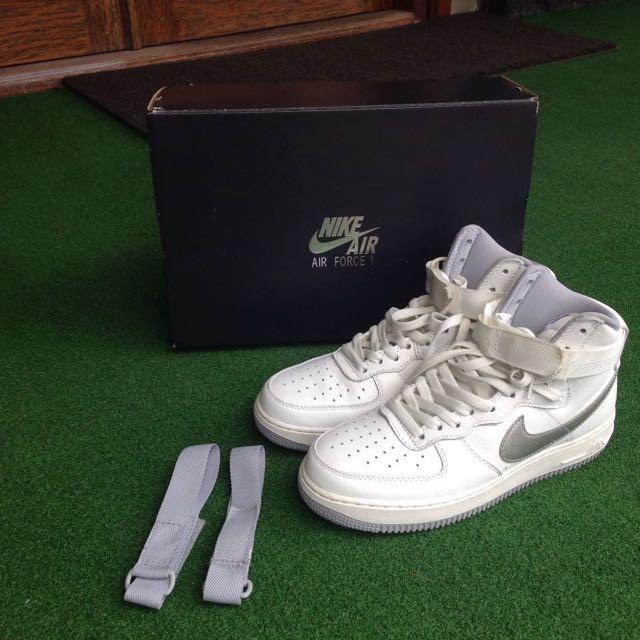 Nike Air Force 1 Hi Retro QS Summit White/Wolf Grey
