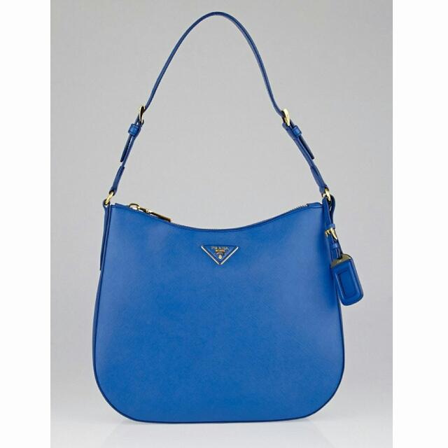 41703f0b14a0 Price Reduced  Prada Cobalto Saffiano Lux Shoulder Bag