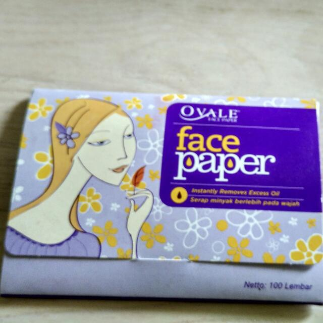 Preloved face paper by ovale