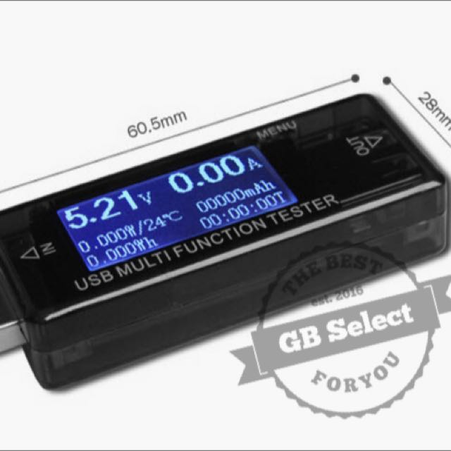 QC 3.0 USB電流電壓計