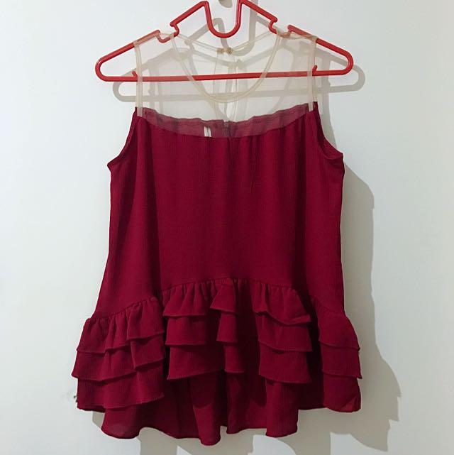 Baju Merah (Aimee Top)
