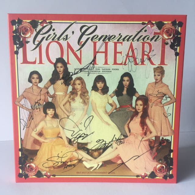 [SIGNED] GIRL'S GENERATION 'LION HEART' Original Album