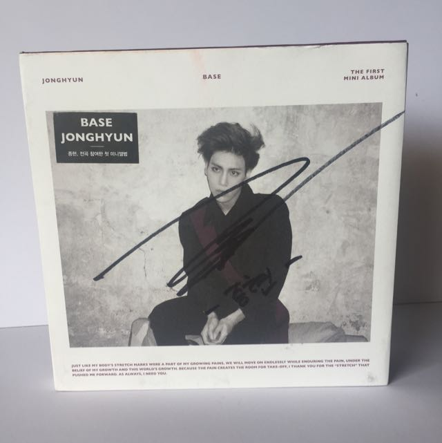 [SIGNED] JONG HYUN 'BASE' Original Album