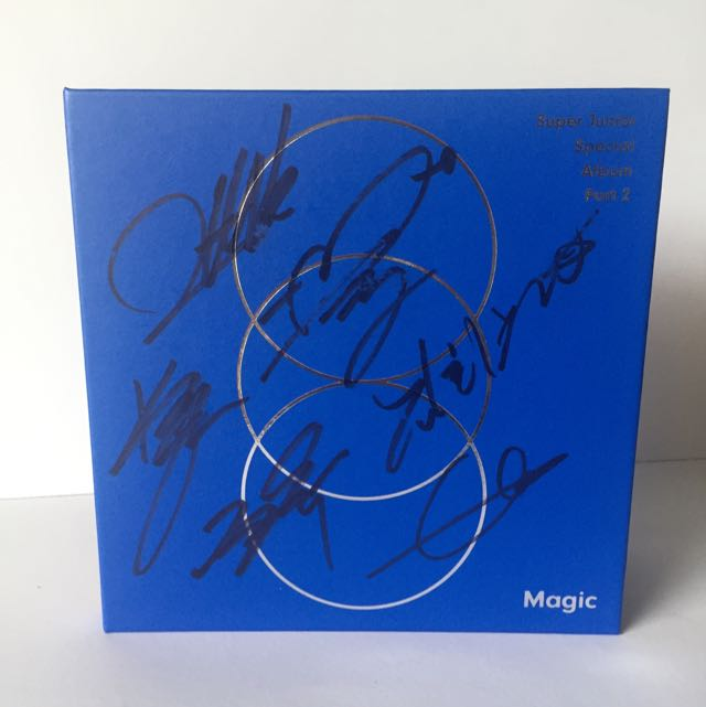 [SIGNED] SUPER JUNIOR 'MAGIC' Special Original Album Part 2