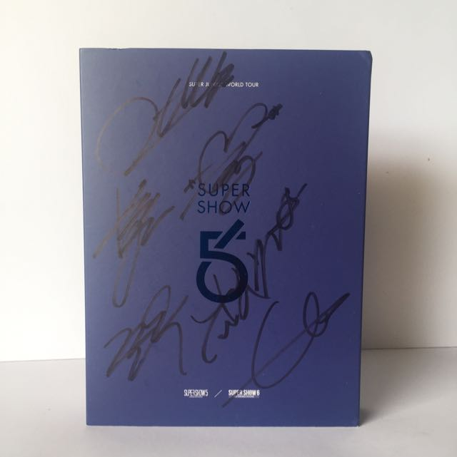 [SIGNED] SUPER JUNIOR SUPER SHOW 5 & 6 WORLD TOUR