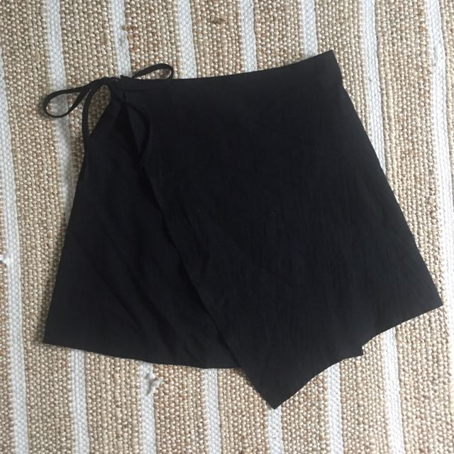 Simple Linen Wrap Skirt Size 10
