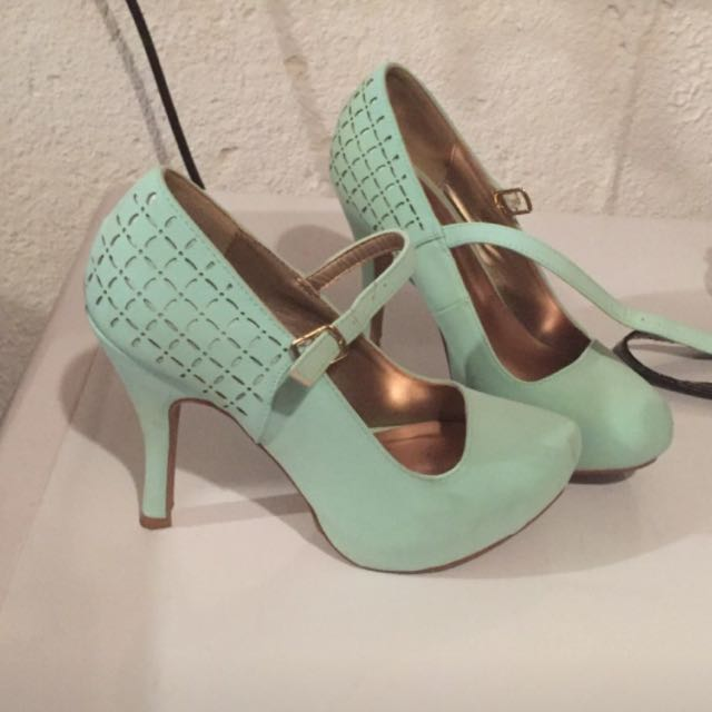 Size6 Mint Green Mary Jane Style Heels