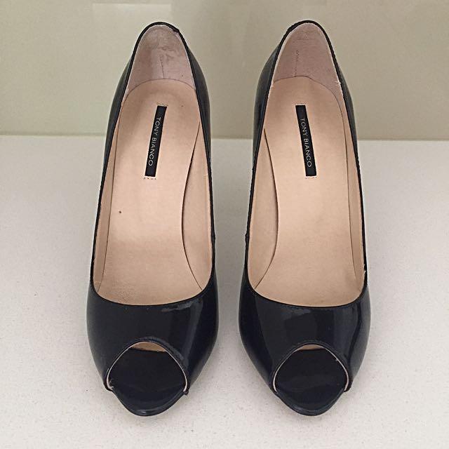 Tony Branco Black Patent Heels