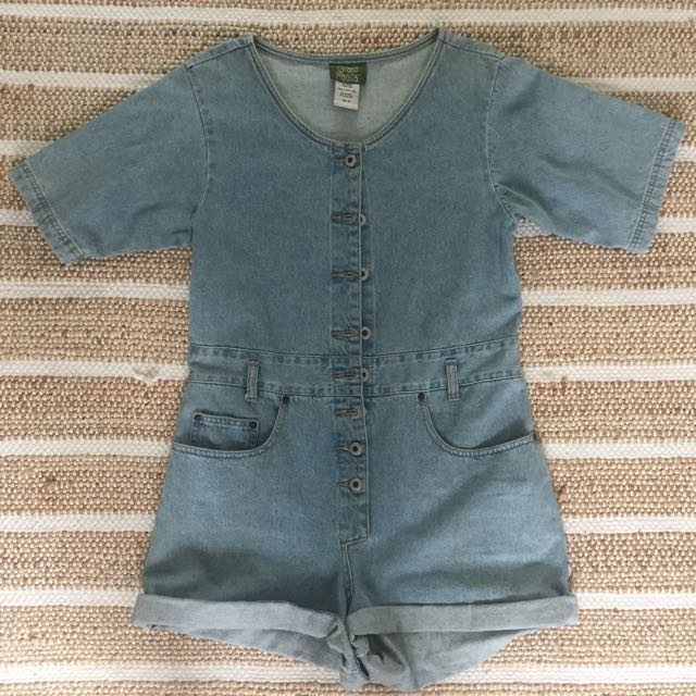 Vintage Denim Jumpsuit Size S