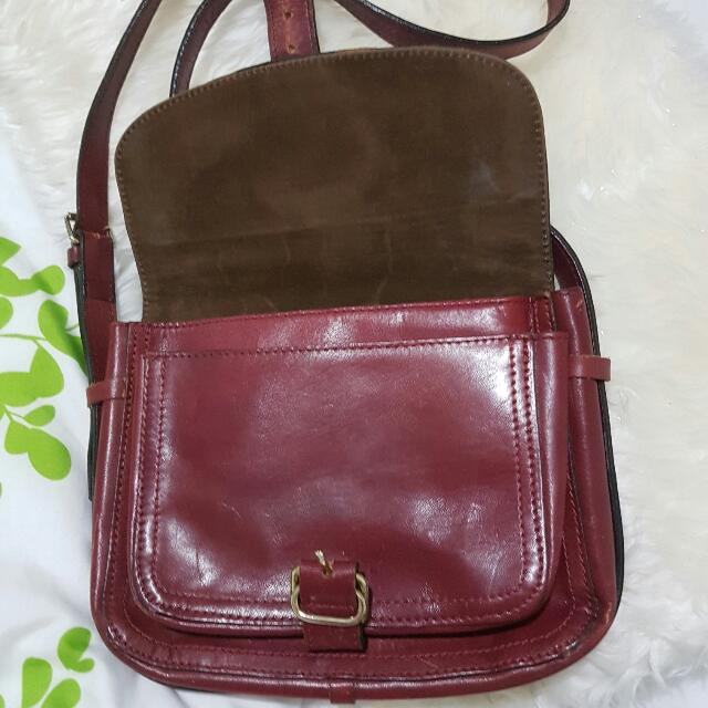 Vintage Genuine Leather Crossbody Bag