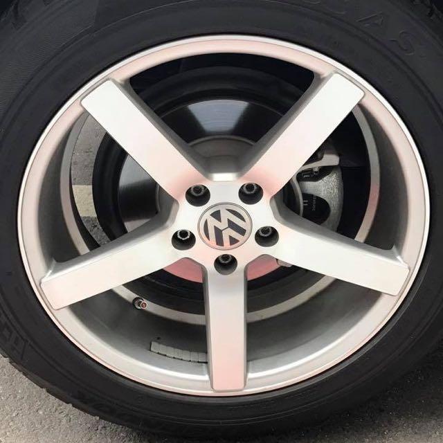 """類VOSSEN CV3 18""""鋁圈含胎 VW&AUDI"""