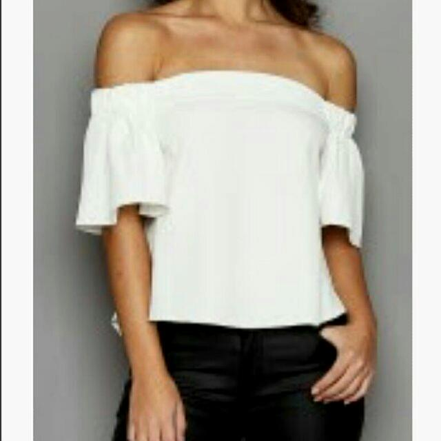 white off shoulder top size small