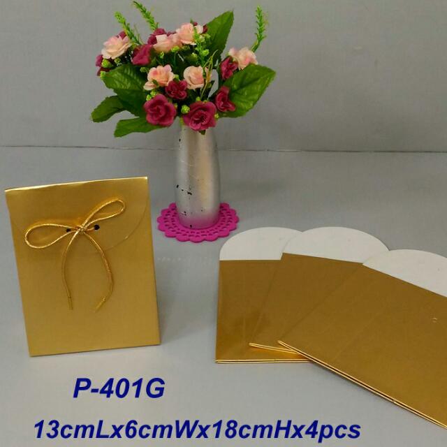 金箔紙禮物袋x4pcs