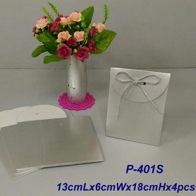 350lbs Cardboard paper 銀箔紙禮物袋x4pcs