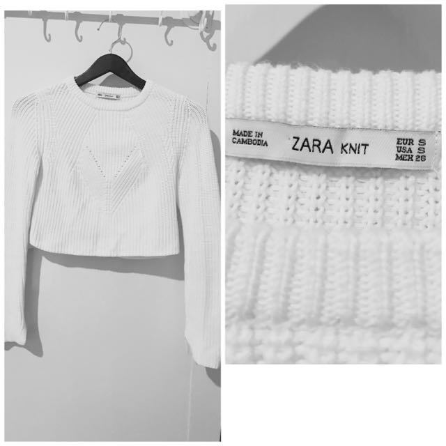 Zara Knit Wear Crop Top