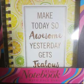 A5 Notebook With Tabs