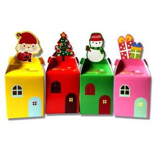 "Gifts Boxes Set of 10- Merry Xmas Present ""Christmas Gifts For"""