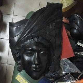 古老木面具,1O吋x9吋靚木歴史60一9O年代女木面具,oK???
