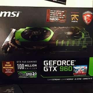 MSI GTX 960 100 MILLION EDITION